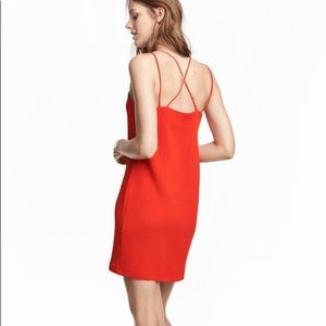 H&M Bright Red Strappy Mini Dress